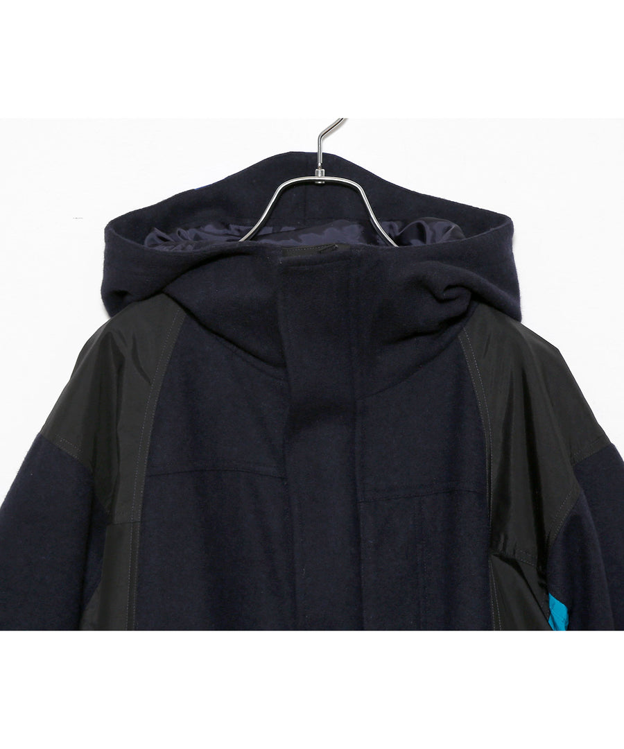WOOL Mt. PARKA LONG/NAV_01
