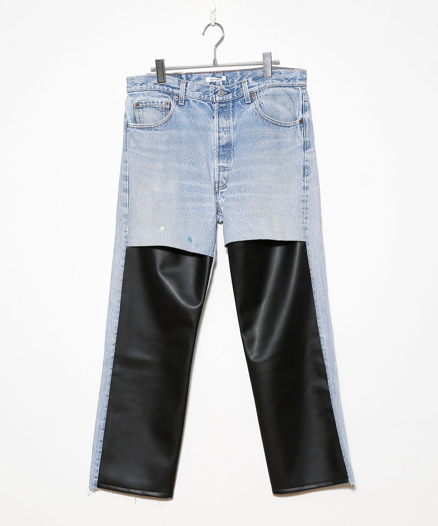 LEATHER SLIT PT B/BLK_01