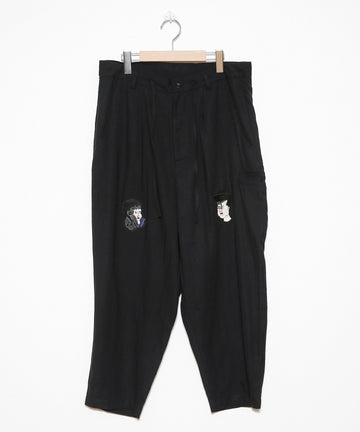 KENDAI × STOF  EMBROIDERY WIDE PANTS