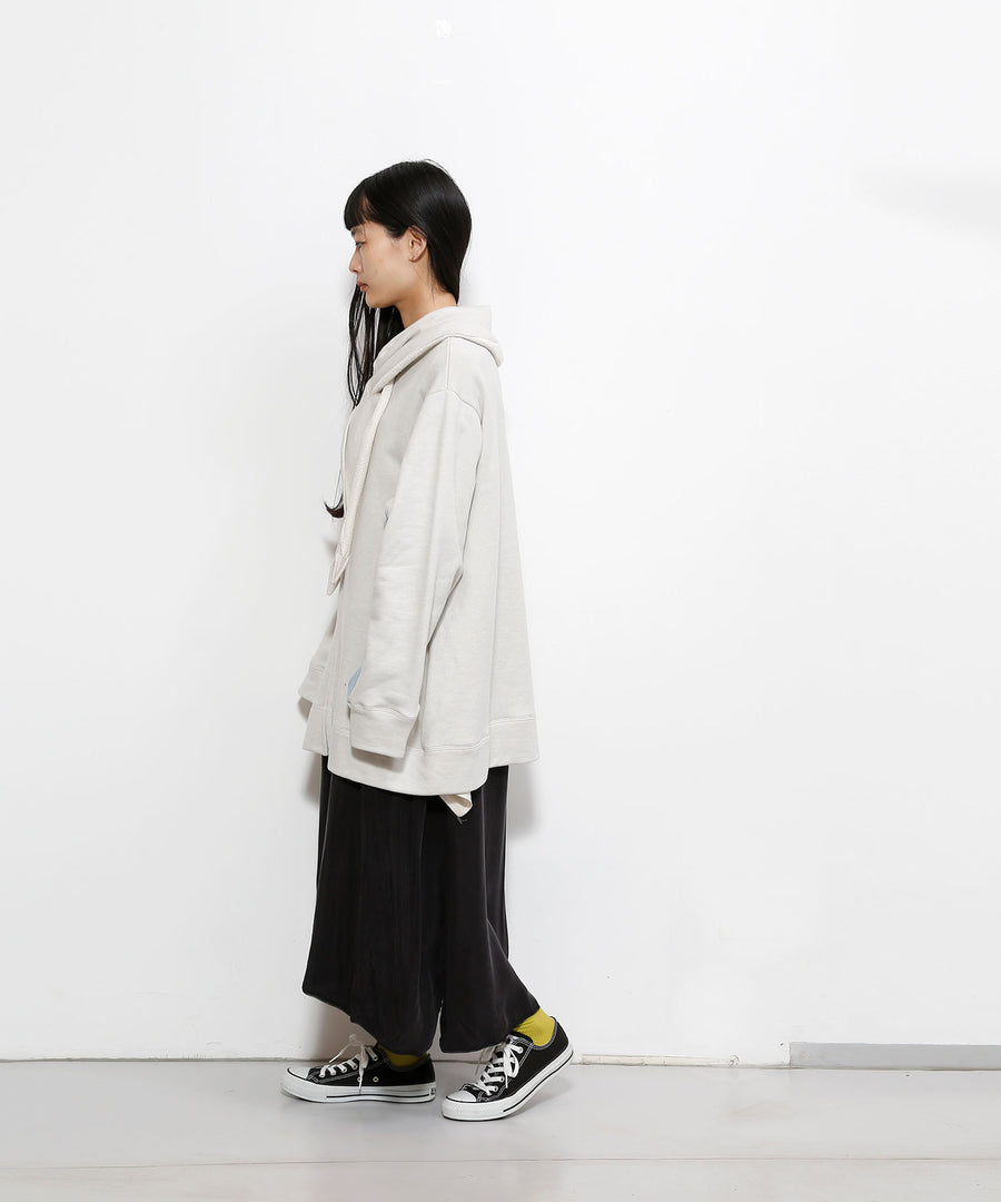 △ SHAWL ZIP-UP PARKA/GRY_01