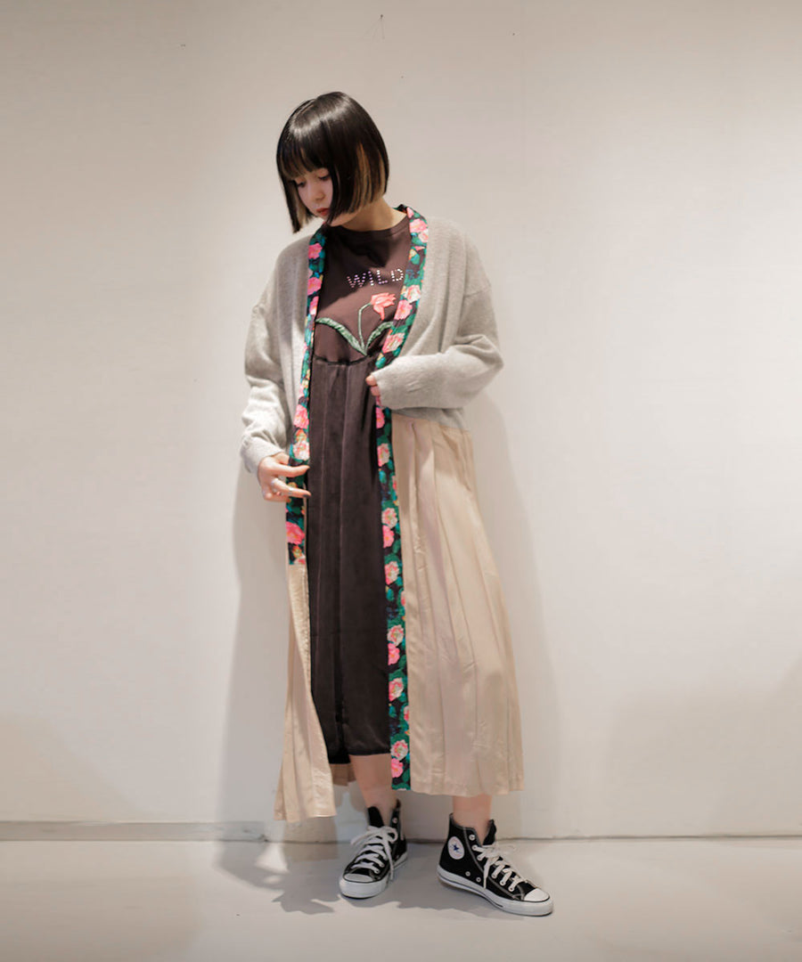 FLORAL KNIT ROBE/003