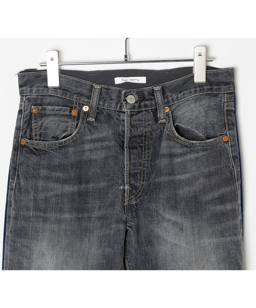UNION DENIM PT 20SS/NAV*BLK001