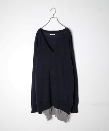 UNION KNIT SWEATER_EMB.(DARK*NEW)/001