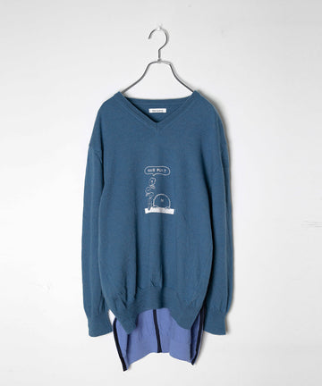 UNION KNIT SWEATER_EMB.(LIGHT*FUN)/001