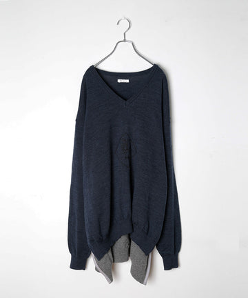 UNION KNIT SWEATER_EMB.(DARK*NEW)/002