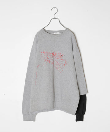 MU-EMB SLIT SLEEVE TOPS/003