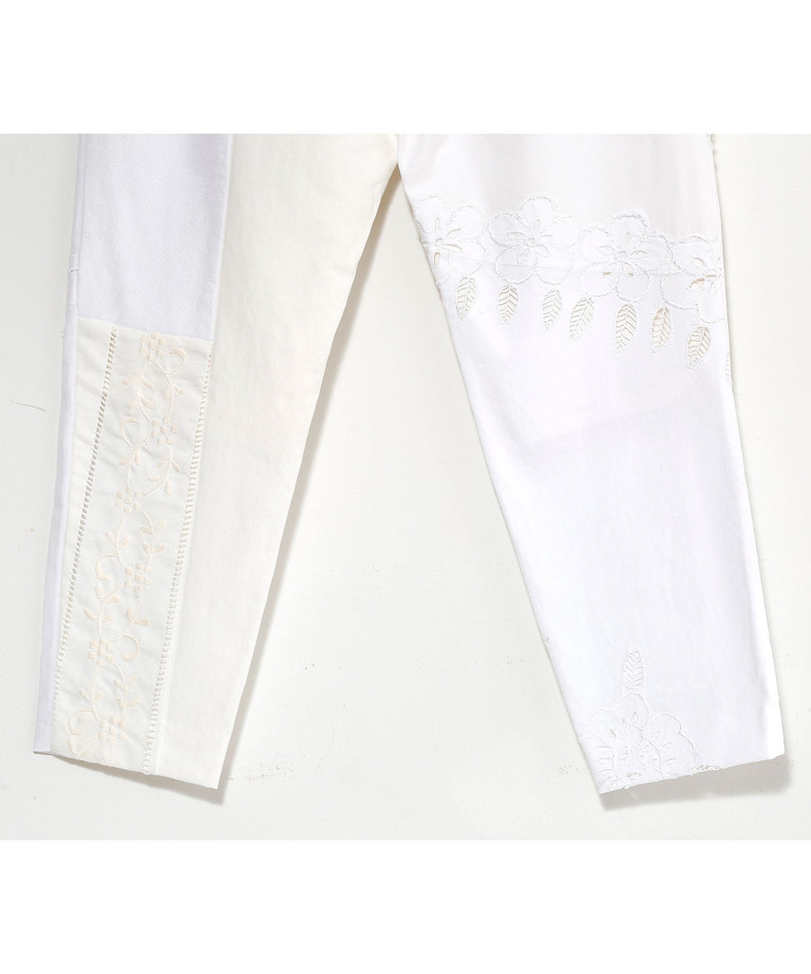 WHT TABLE CLOTH TAPERED PT_003