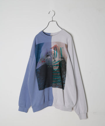 UNION SWEATSHIRTS_PRINT/WHT CAT