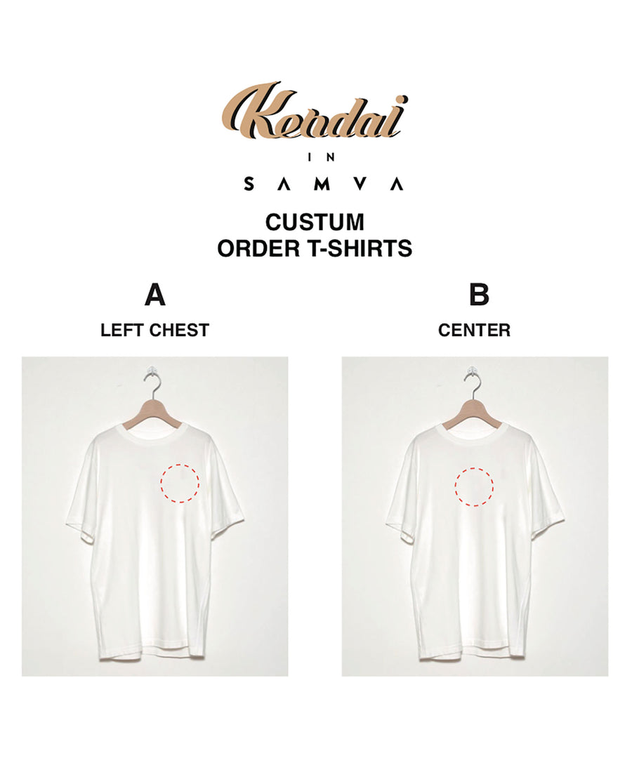 KENDAI × STOF CUSTOM ORDER EMBROIDERY T-SHIRTS[WHITE]