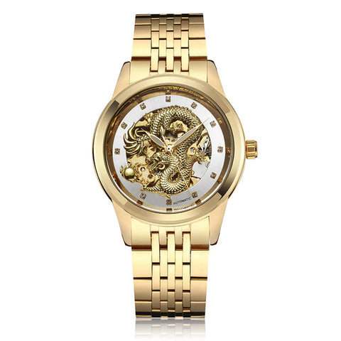 Montre Dragon Homme Or