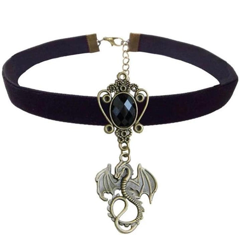 Collier Dragon Ras de Cou