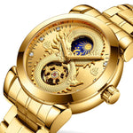 une montre or dragon chinois