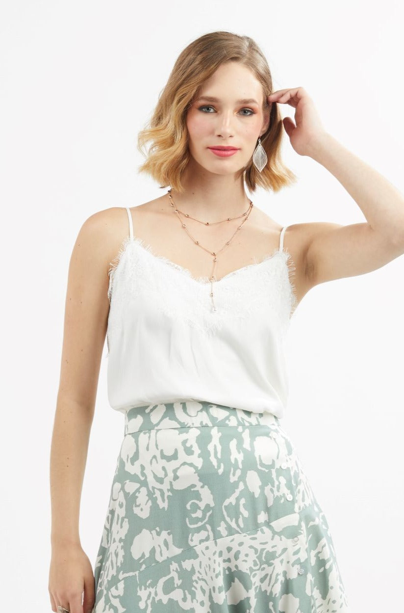 1033 - For Love Cami - White