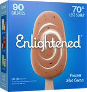 Frozen Hot Cocoa Bars - Enlightened Ice Cream