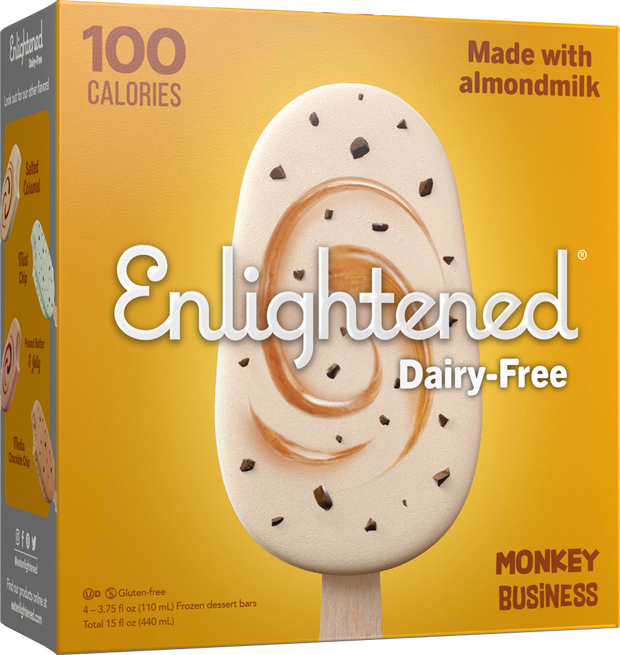 Dairy-Free Monkey Business Bars - Enlightened Ice Cream