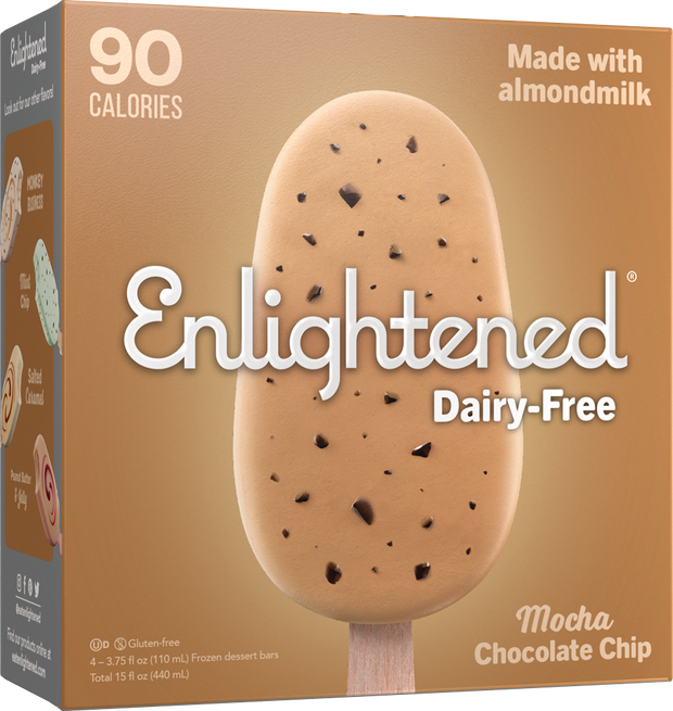 Dairy-Free Mocha Chocolate Chip Bars - Enlightened Ice Cream