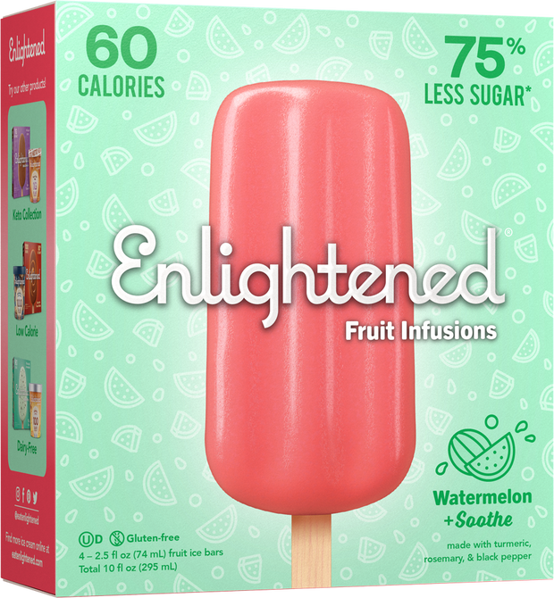 Watermelon + Soothe Bars - Enlightened Ice Cream