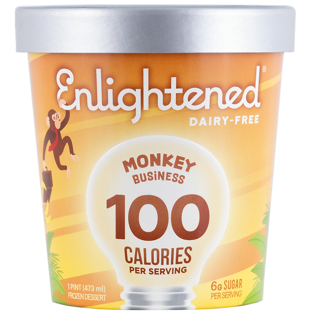 Dairy-Free Monkey Business Pint - Enlightened Ice Cream