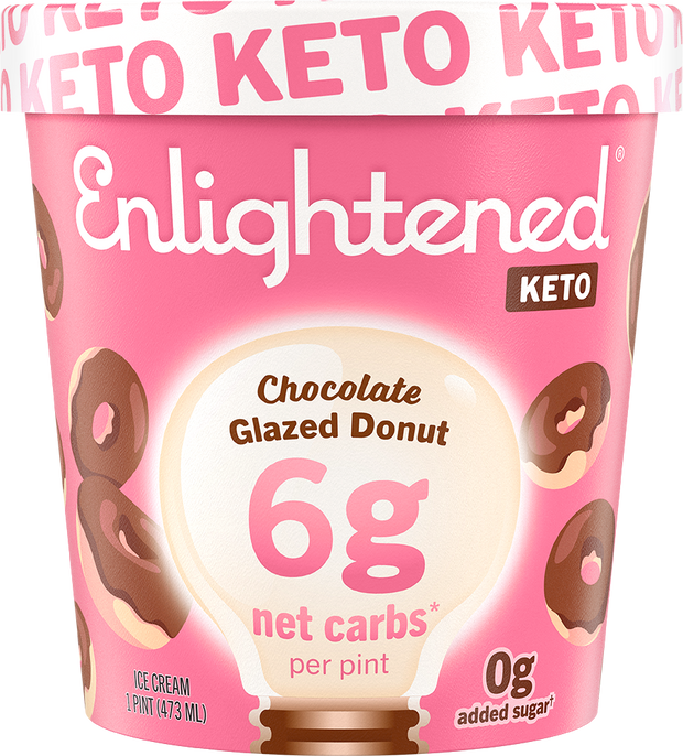 Keto Chocolate Glazed Donut Pint - Enlightened