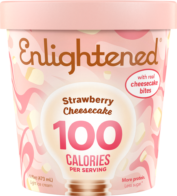 Strawberry Cheesecake Pint - Enlightened Ice Cream