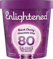 Black Cherry Chocolate Chip Pint - Enlightened Ice Cream