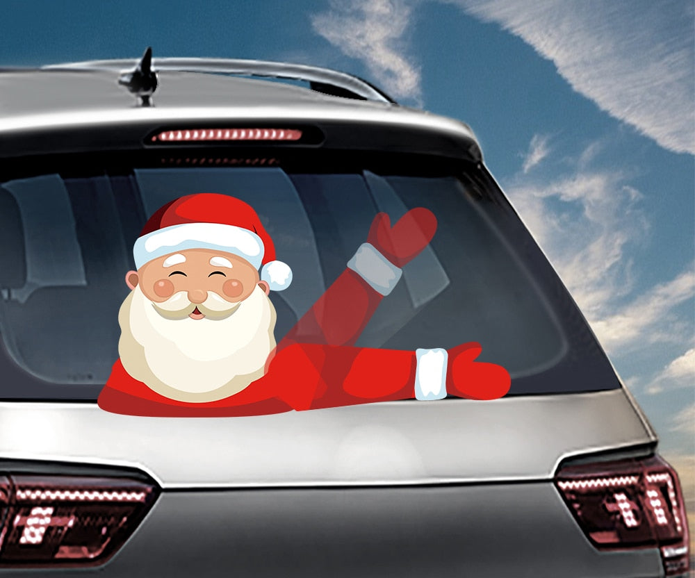 Waving Santa Claus Car Window Wiper