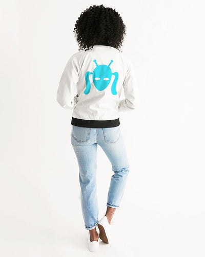 Blue Cootie Girl Design Women's Bomber Jacket