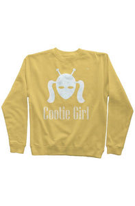White Cootie Girl on Gold