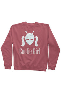 White Cootie Girl on Soft Rose