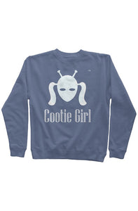 White Cootie Girl on Soft Blue