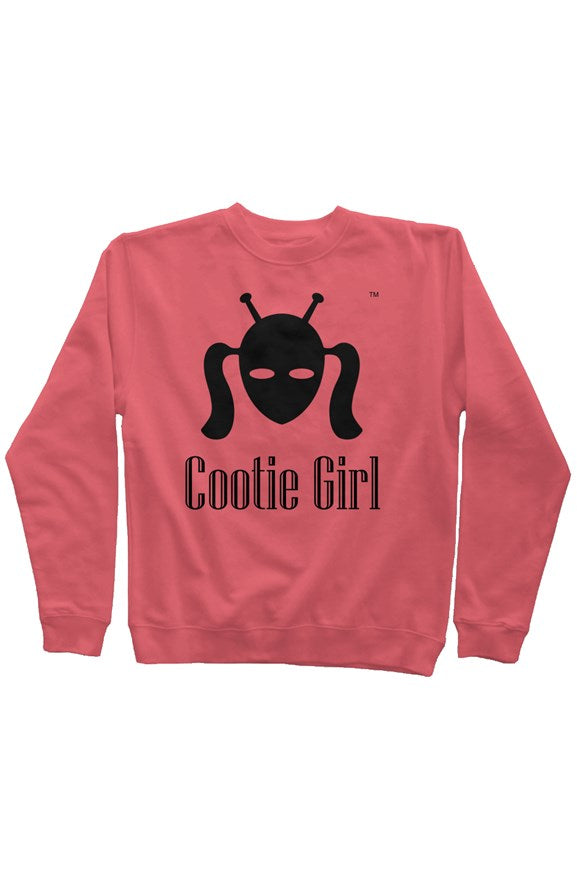 Classic Black Cootie Girl on Coral