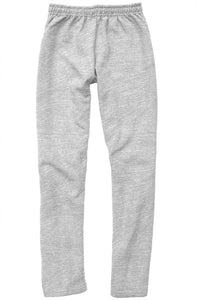 Pink Embroidered Logo on Light Gray Relaxed Sweatpants