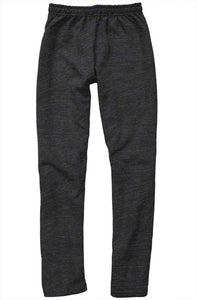 Blue Embroidered Logo on Dark Gray relaxed Sweatpants