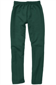 White Embroidered Logo on Green Relaxed Sweatpants