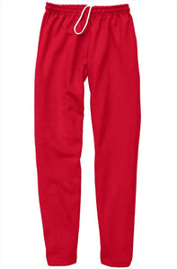 Black Embroidered Logo on Red Relaxed Sweatpants