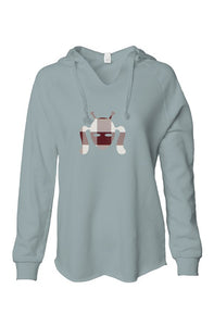 Soft Gray Hoodie with Checker Sewn Design Cootie Design