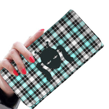 Load image into Gallery viewer, Retro Blue Plaid Ladies Wallet