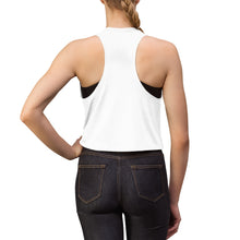 Load image into Gallery viewer, Women's Crop Top - Black Logo on White