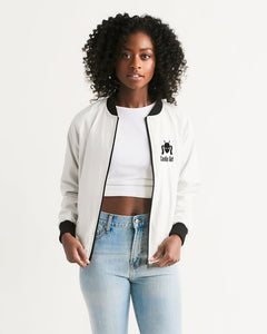 Classic Black Cootie Girl Design Women's Bomber Jacket
