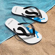 Load image into Gallery viewer, Unisex Flip-Flops - Blue & Black