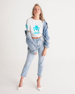 Women's Twist-Front Cropped Tee Printed on Front, Back and Both Sleeves