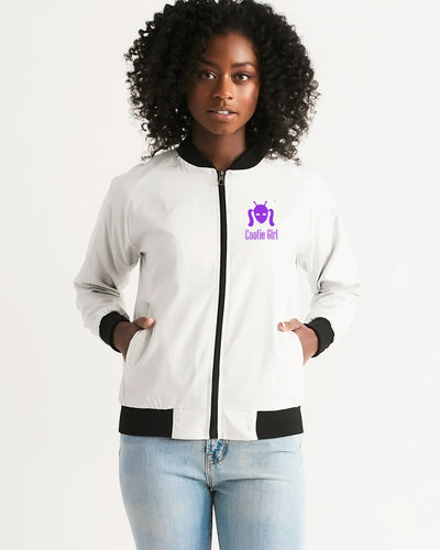 Purple Cootie Girl Women's Bomber Jacket