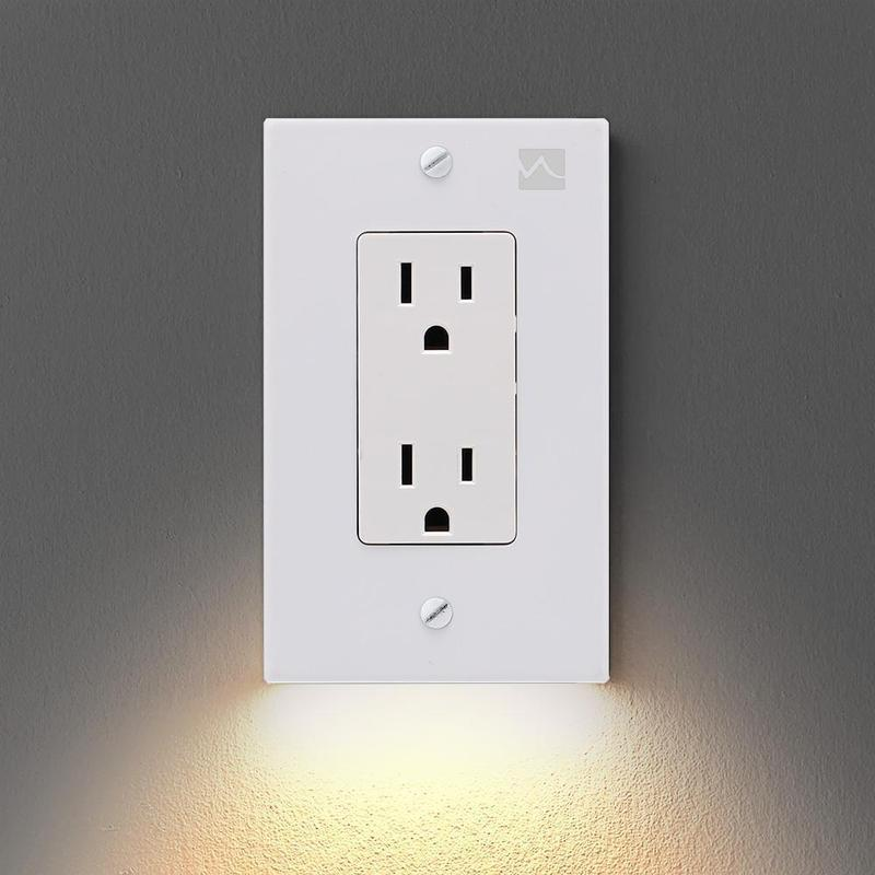 Hirundo Outlet Wall Plate With LED Night Lights
