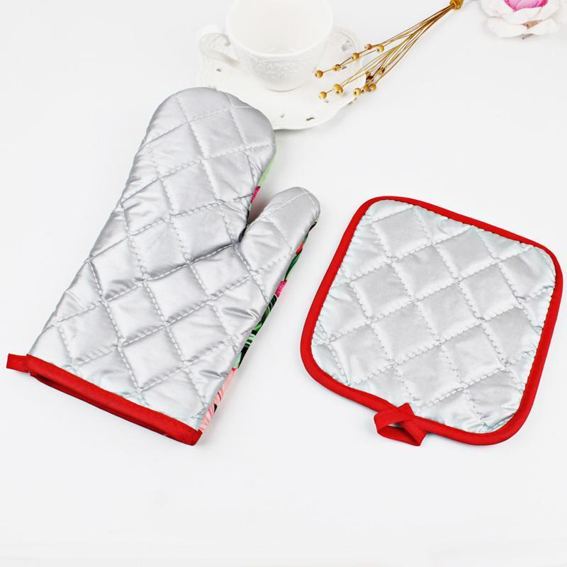 Christmas Oven Gloves + Potholder