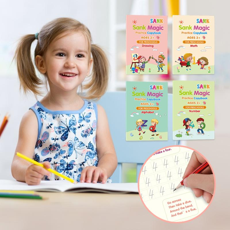 Reusable Magic Practice Copybook for Children