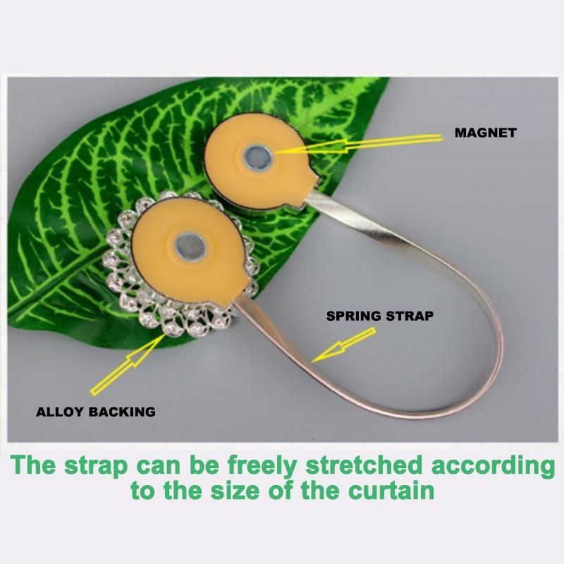Perforation-Free Magnetic Curtain Straps