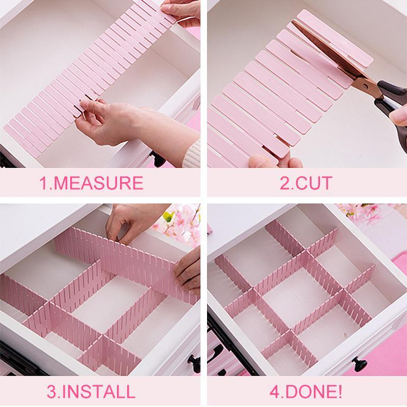 Multi-functional Plastic Drawer Dividers
