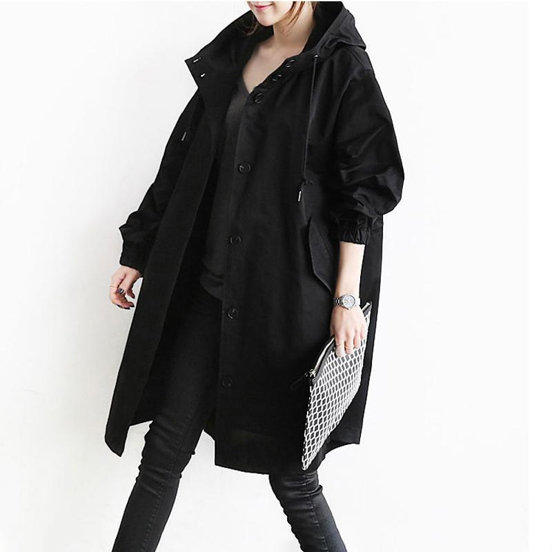 Women Windproof Hooded Coat
