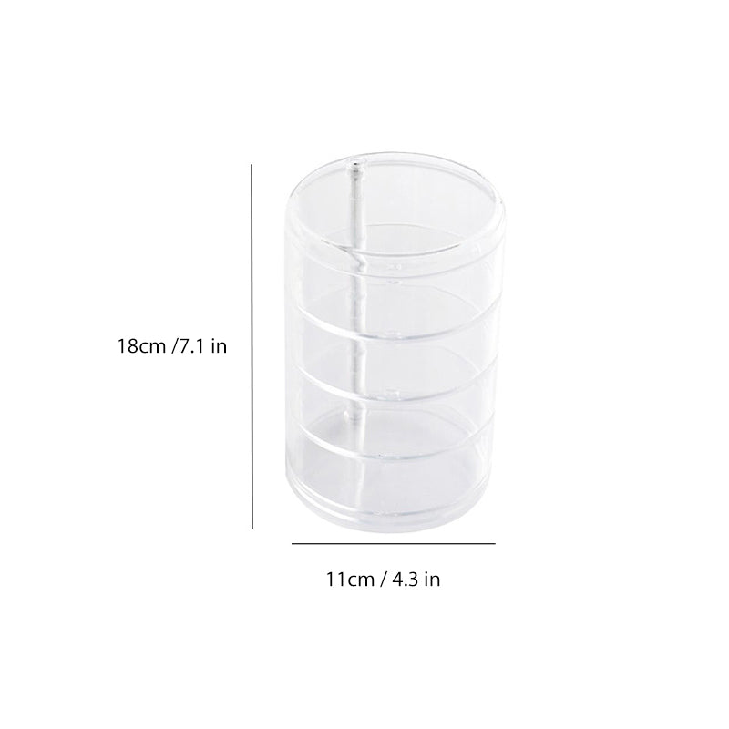 Transparent rotating storage box