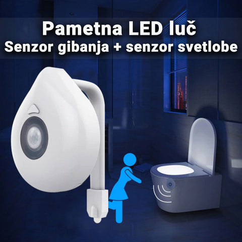 Pametna LED lučka za WC